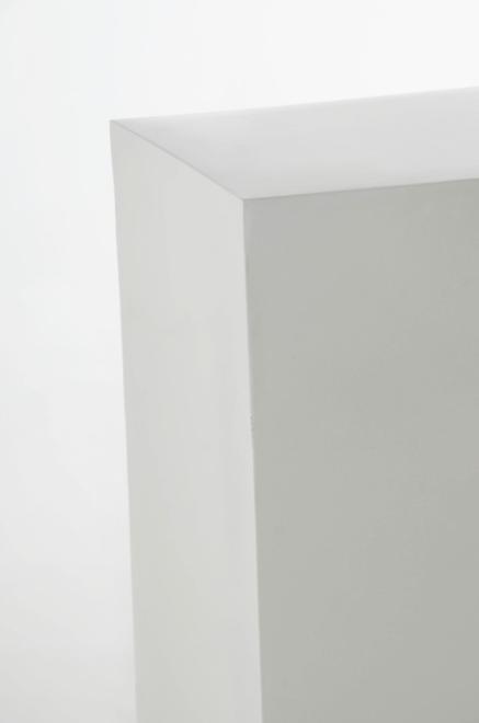 podest s ule aus fiberglas 100 cm wei hochglanz ebay. Black Bedroom Furniture Sets. Home Design Ideas