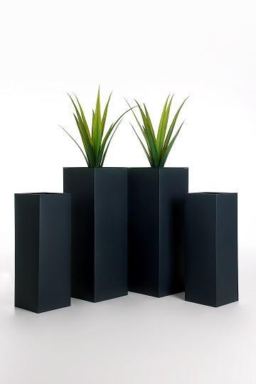 4er-Set-Zink-Blumenkuebel-Pflanzkuebel-Pflanzgefaesse-Block-80-65cm-anthrazit