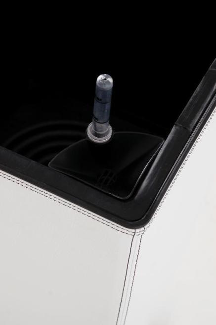 blumenk bel botanlux linea weiss 50cm mit kunstlederbezug ebay. Black Bedroom Furniture Sets. Home Design Ideas