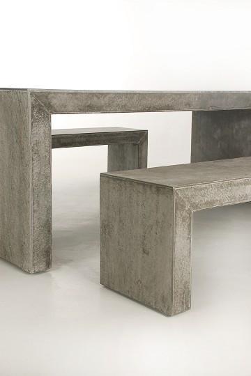 moderna 200 betonm bel gartenm bel 3er set sitzgruppe aus faserbeton ebay. Black Bedroom Furniture Sets. Home Design Ideas