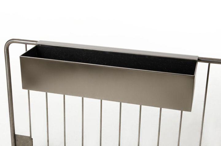vivanno blumenkasten balkonkasten binox aus v2a edelstahl 80 cm geb rstet ae trade online. Black Bedroom Furniture Sets. Home Design Ideas