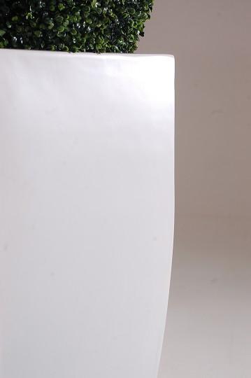 blumenk bel pflanzk bel pflanzgef e fiberglas cubic weiss 70cm. Black Bedroom Furniture Sets. Home Design Ideas