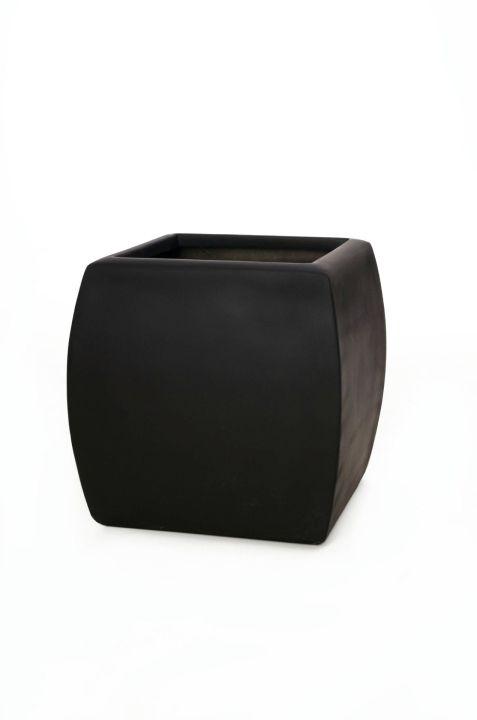 pflanzk bel blumenk bel kando aus fiberglas 50x44x44 cm anthrazit ebay. Black Bedroom Furniture Sets. Home Design Ideas