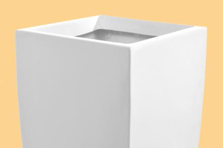blumenk bel pflanzk bel pflanzgef e fiberglas linea weiss 90cm hochglanz. Black Bedroom Furniture Sets. Home Design Ideas