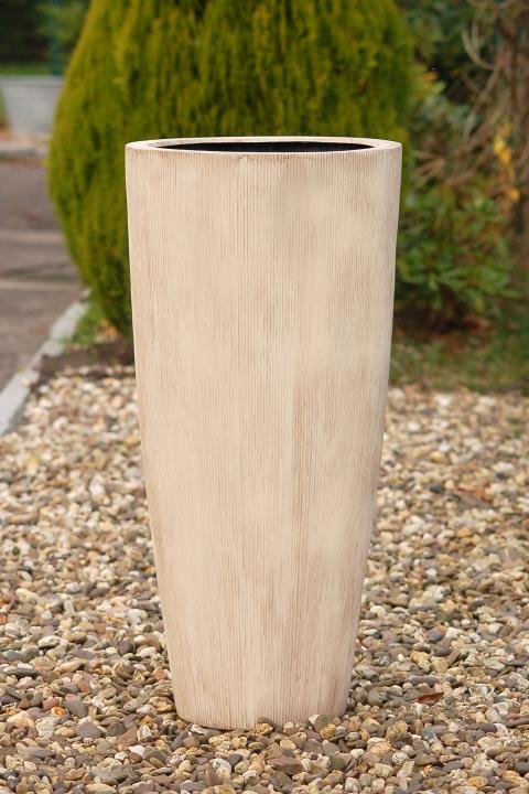 exklusiver gro er blumenk bel pflanzk bel fiberglas city 100cm beige ebay. Black Bedroom Furniture Sets. Home Design Ideas