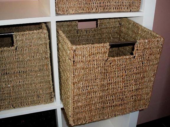 2 vivanno regalk rbe schrankkorb aus seegras f r ikea expedit bonde natur ebay. Black Bedroom Furniture Sets. Home Design Ideas