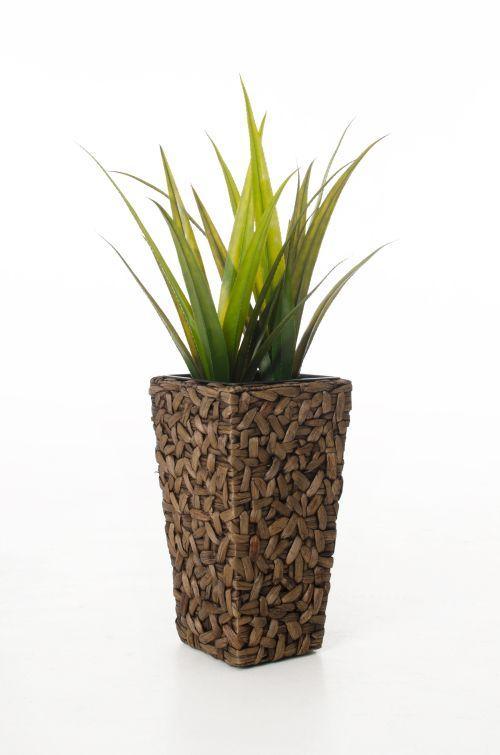vivanno einzel pflanzgef aus wasserhyazinthe 39 wild 51 cm braun ebay. Black Bedroom Furniture Sets. Home Design Ideas
