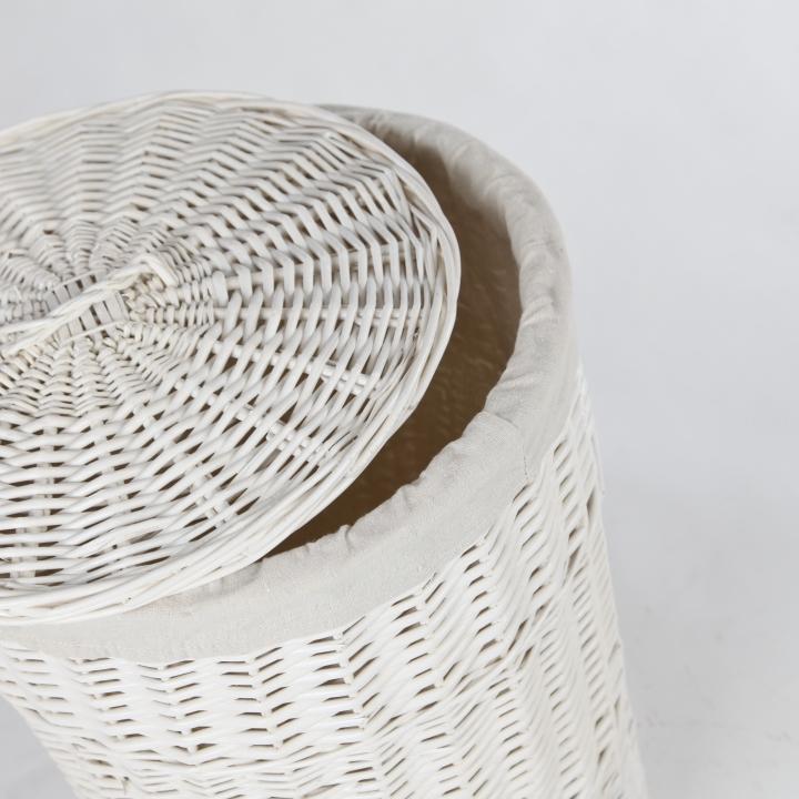 vivanno w schekorb weidenkorb korb aus weide rondo 59 cm hoch wei ebay. Black Bedroom Furniture Sets. Home Design Ideas
