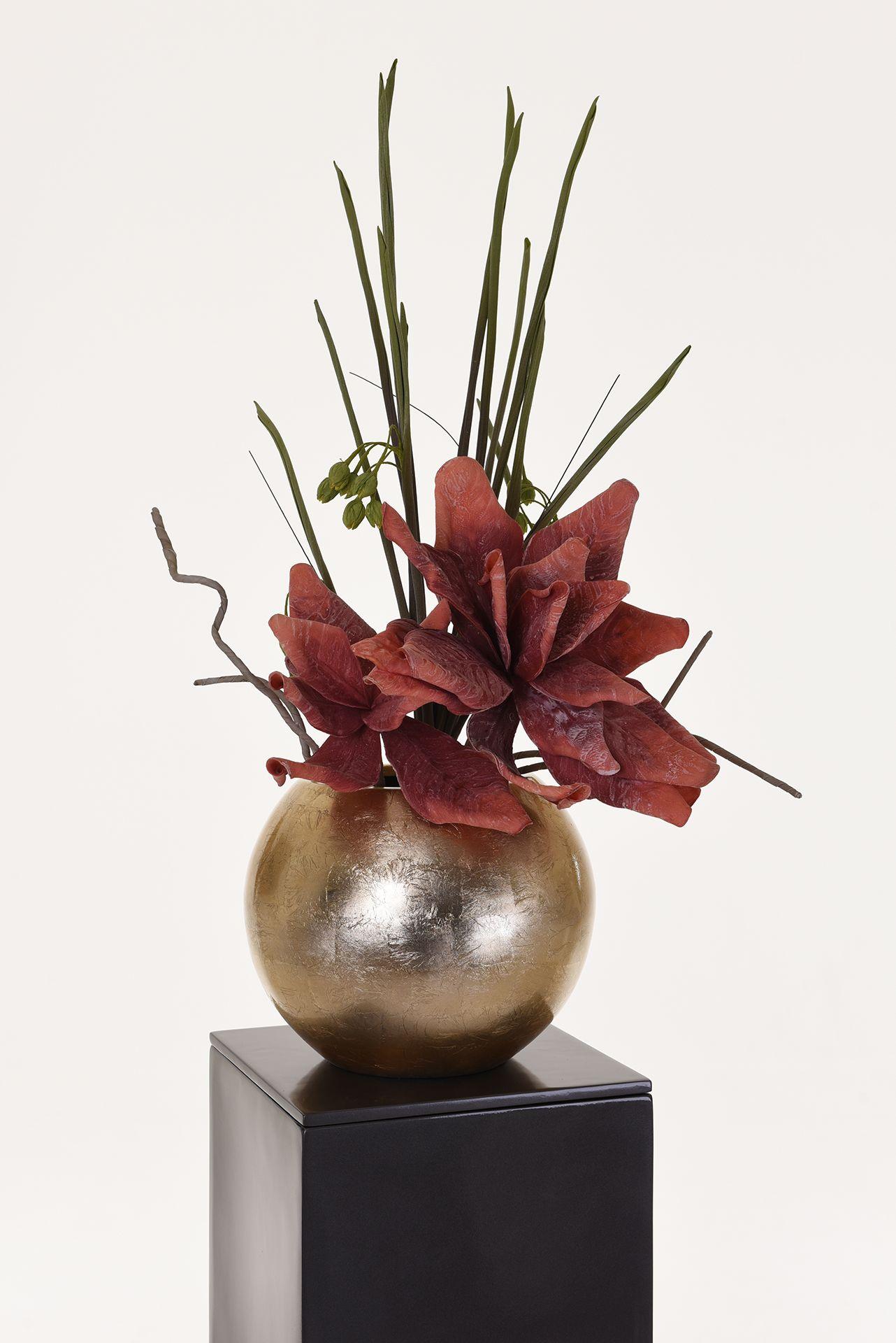 blumentopf pflanztopf fiberglas globo 30 cm gold. Black Bedroom Furniture Sets. Home Design Ideas