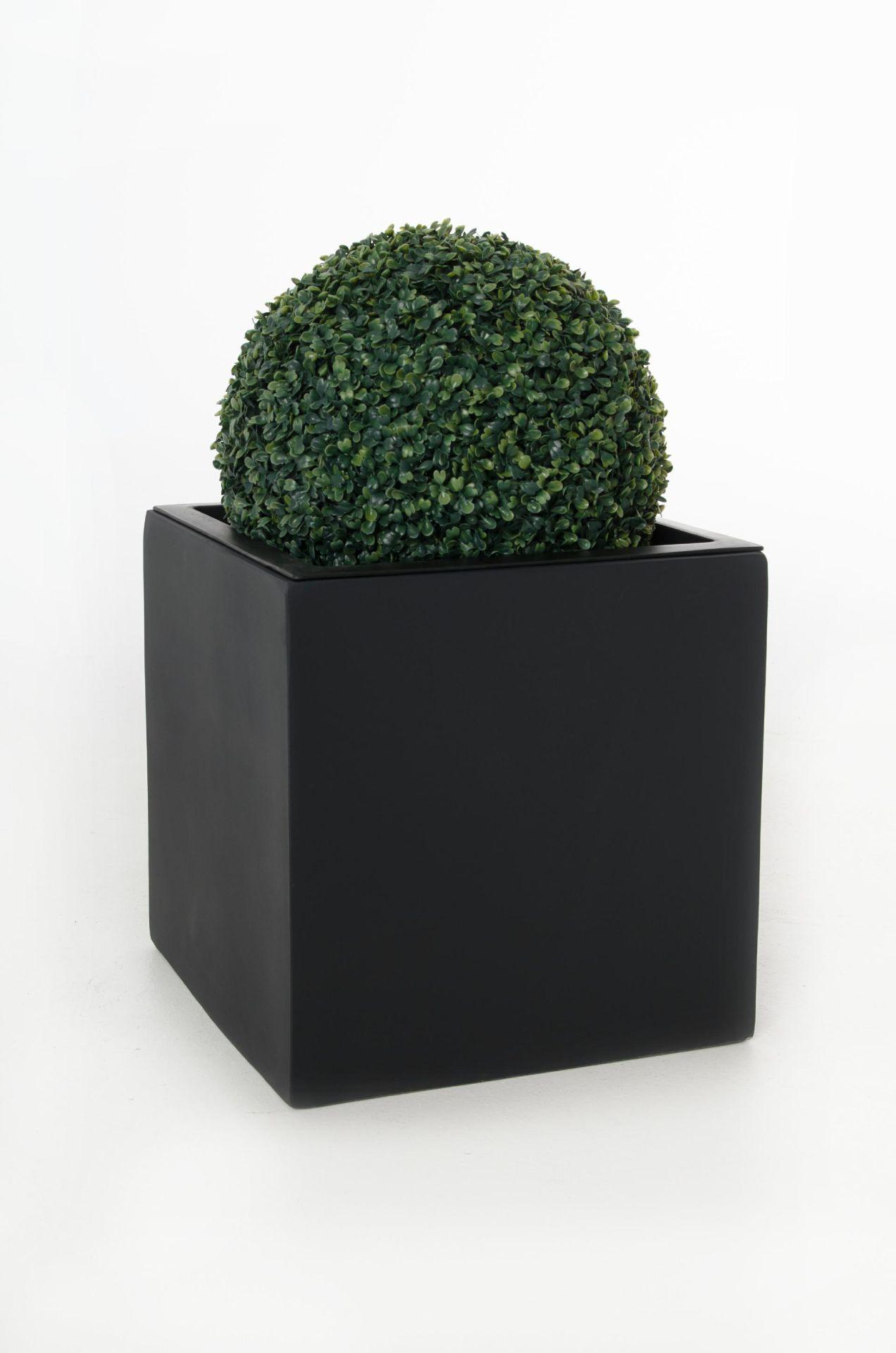 blumenk bel pflanzk bel pflanzgef e aus fiberglas block weiss 50x50x50cm ebay. Black Bedroom Furniture Sets. Home Design Ideas