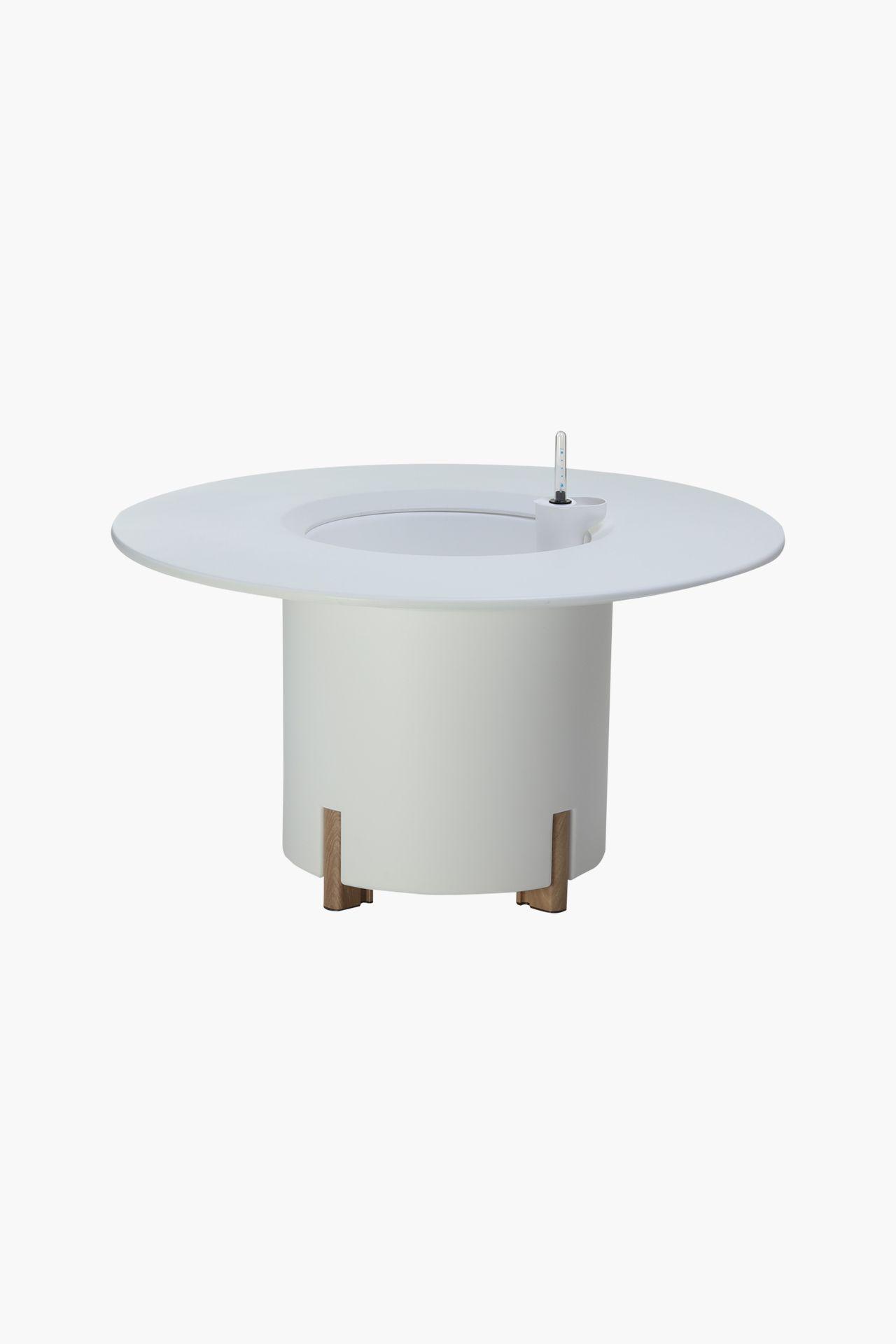pflanzk bel tischplatte kunststoff rund mondum tondo 80 cm wei ebay. Black Bedroom Furniture Sets. Home Design Ideas