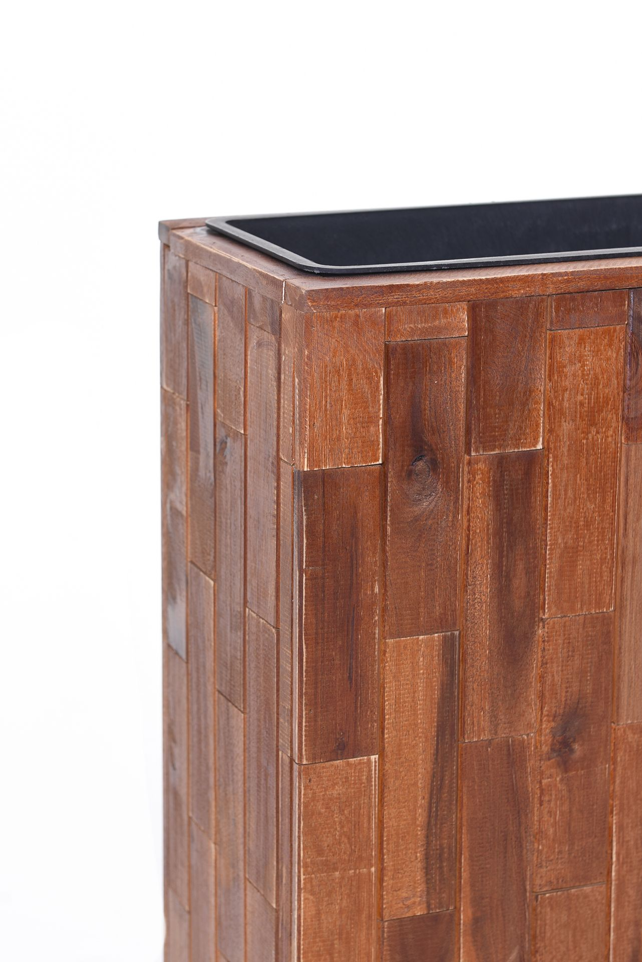 pflanzk bel raumteiler elemento aus holz akazie 75x60x23 cm braun ebay. Black Bedroom Furniture Sets. Home Design Ideas