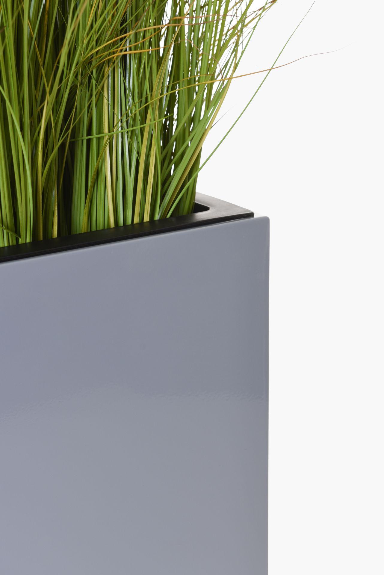 raumteiler mit rollen pulverbesch edelstahl elemento 100x59x30 silbergrau ebay. Black Bedroom Furniture Sets. Home Design Ideas