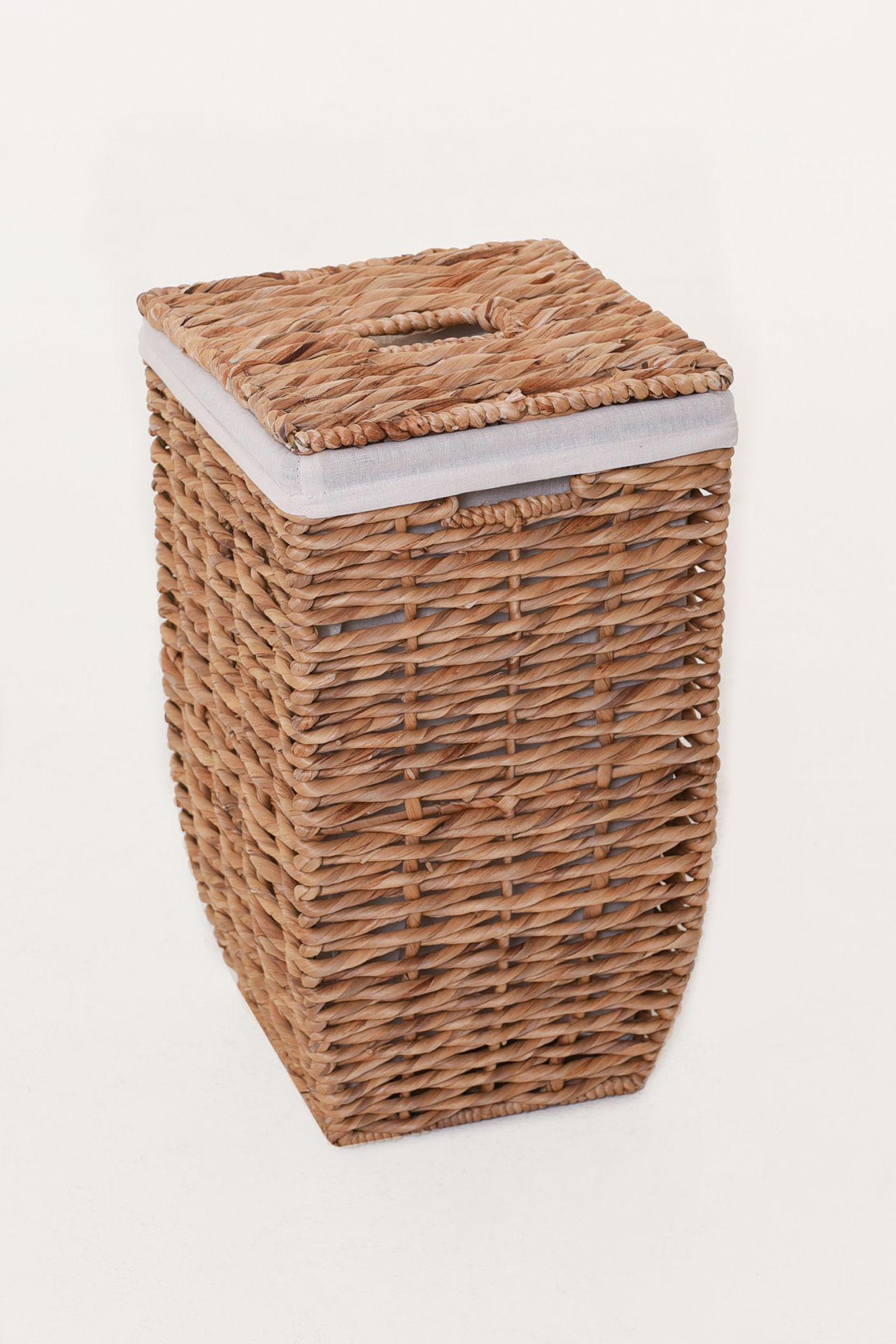 VIVANNO Wäschekorb Korb Wäschebox Wasserhyazinthe'Linea' 48cm hoch eBay ~ 18001155_Wäschekorb Wasserhyazinthe Groß