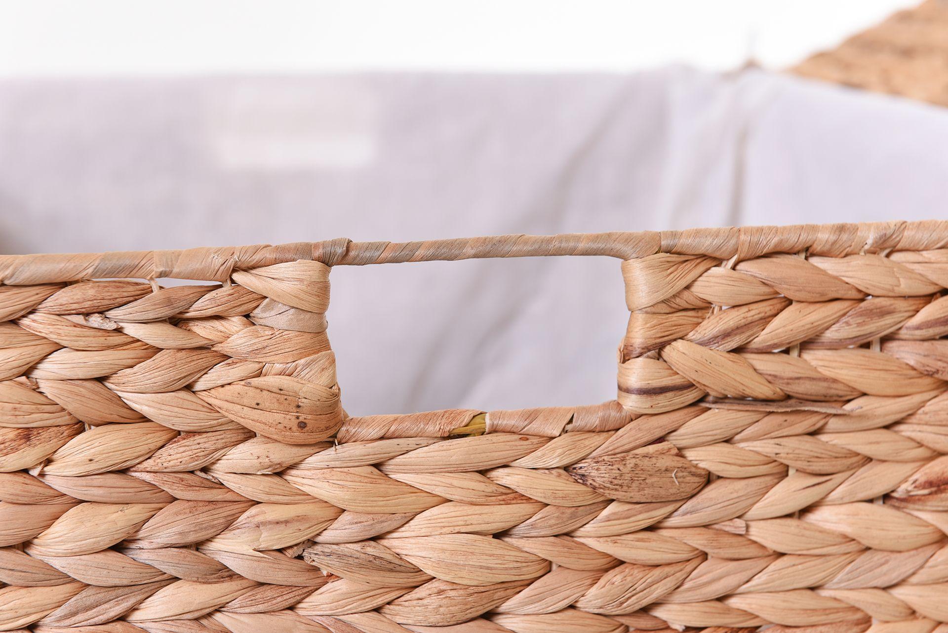 VIVANNO Wäschekorb Korb Wäschebox aus Wasserhyazinthe'Mia' 70cm hoch AE Trade Online ~ 18001155_Wäschekorb Wasserhyazinthe Groß